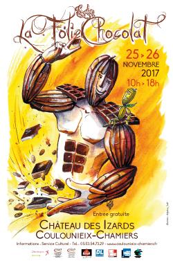 Affiche salon La Folie Chocolat 2017