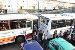 Départ de la visite en bus.
