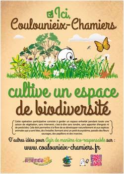 """Panneau """"Espace de biodiversité"""""""