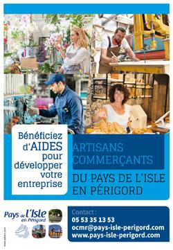 Pays de l&aposIsle - Affiche aides développement des entreprises