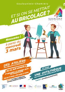 Affiche ateliers bricolage PRU
