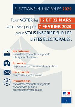 Affiche Inscriptions listes électorales 2020