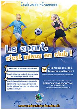 affiche sport club