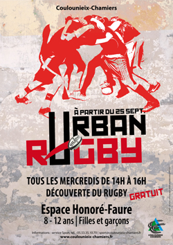 Affiche Urban Rugby (mercredis) - sept 2019