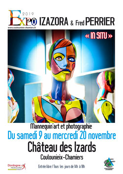 Affiche expo Izazora et Fred Perrier