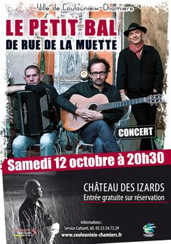 Affiche concert rue de la Muette - oct 2019