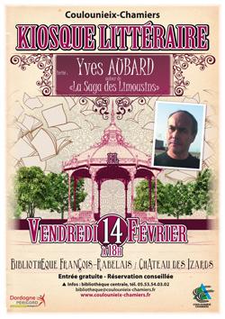 Affiche kiosque littéraire Yves Aubard