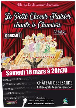 Affiche concert Petit Choeur Fraisier
