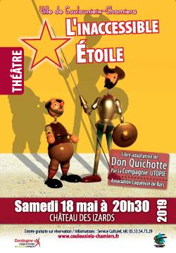 """Affiche théâtre """"l&aposInaccessible étoile"""" - mai 2019"""