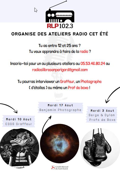 ateliers radio RLP