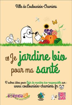"""Affiche """"Je jardine bio pour ma santé"""""""