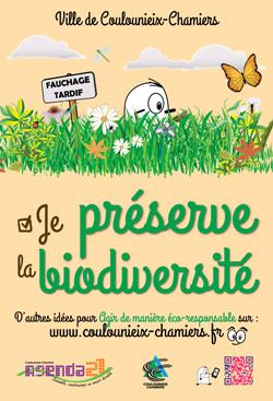 Affiche AG21 Je préserve la biodiversité