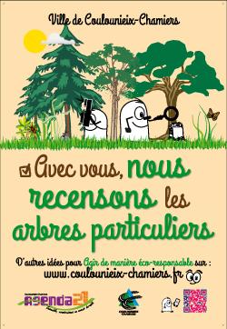 """Affiche """"Recensement des arbres particuliers"""""""