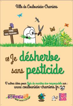 Affiche AG21 Je désherbe sans pesticide