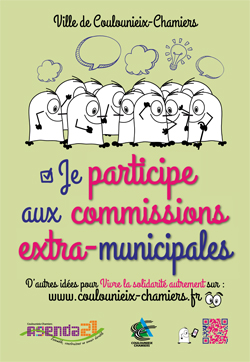"""Affiche """"Je participe aux commissions extra-municipales"""""""
