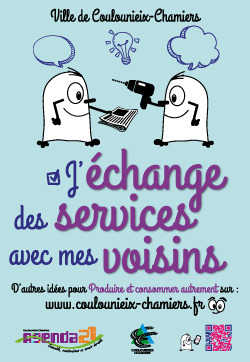 """Affiche """"J&aposéchange des services"""""""