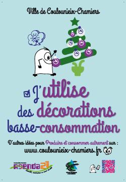 """Affiche """"J&aposutilise des décorations basse-consommation"""""""