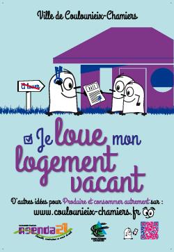 Affiche AG21 Je loue mon logement vacant
