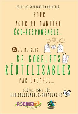 Affiche Gobelets réutilisables