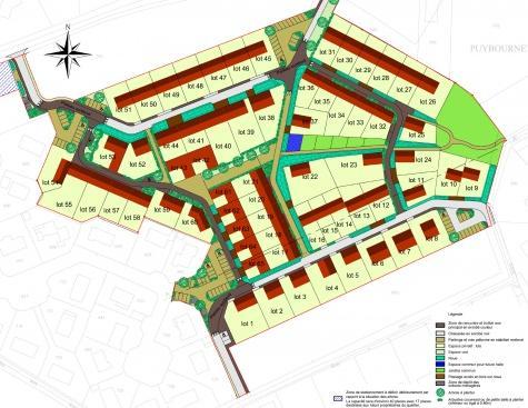 Plan des parcelles du lotissement Bellevue